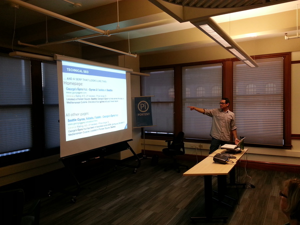 George speaking to Seattle SEO Network